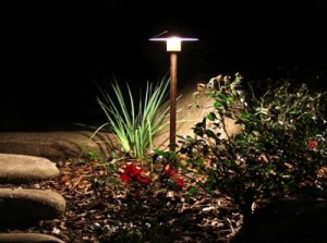 Properly placed path lights wash light over your landscaping