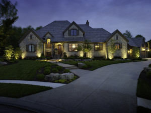 Outdoor lighting makes your home more visible and less of a target for intruders