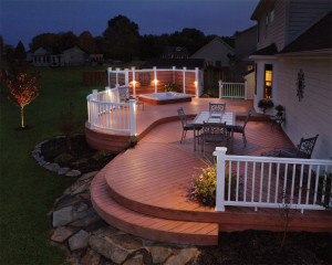 .Make sure your deck is illuminated to keep the party going.