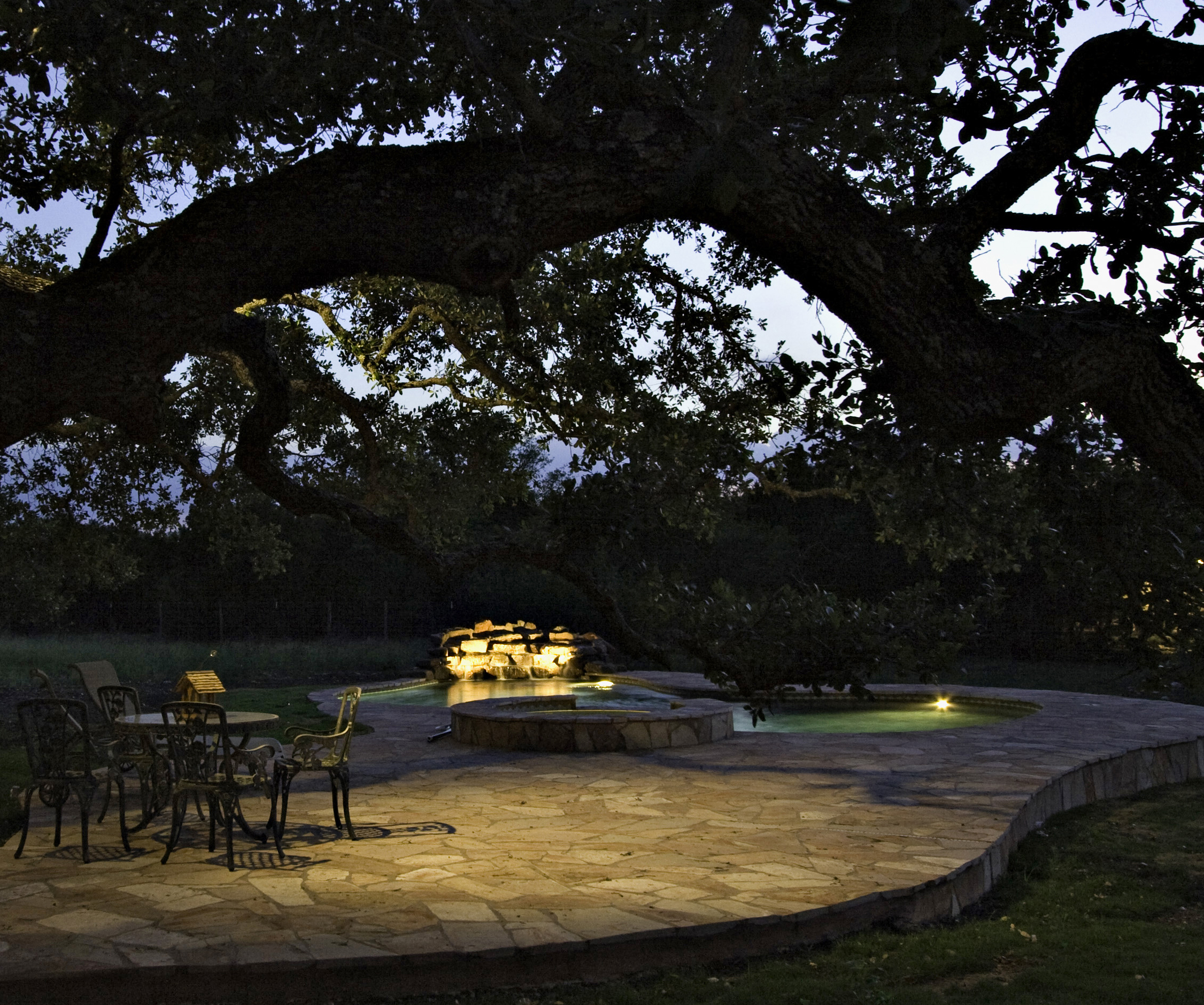 Columbus outdoor lighting techniques for unique spaces outdoor installing lights in trees can give the area a safe and enchanting feel aloadofball Image collections