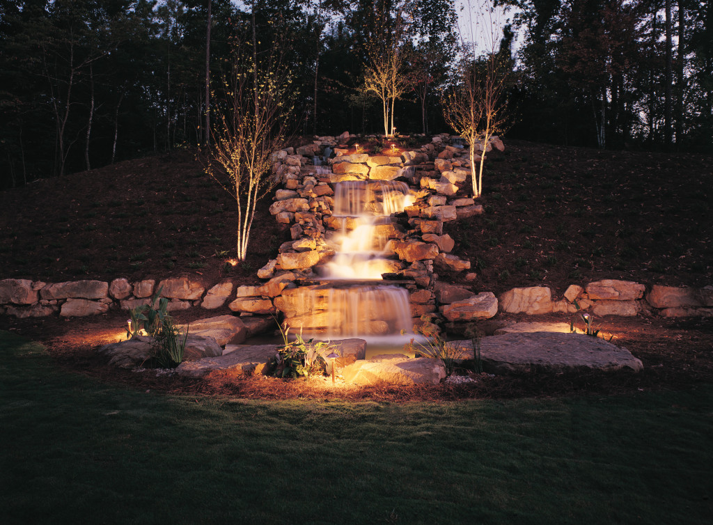Waterfall lighting by Outdoor Lighting Perspectives of Columbus