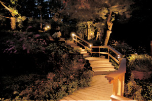 Deck lights work well on stairs and deck posts.