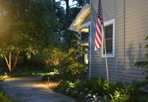 Show your patriotism while the fireworks explode by adding flagpole lighting.