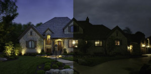 Columbus landscape lighting changes the look of your home at night.