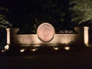 neighborhood entrance lighting