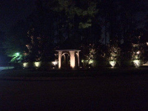 Columbus OH neighborhood entrance lighting